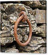 Mooring Ring And Rust Canvas Print