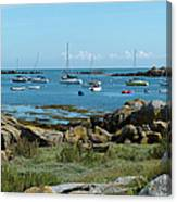 Moorings Iles Chausey Canvas Print