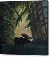 Moose Pond Hideout Canvas Print