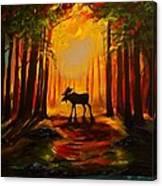 Moose Sunset Canvas Print