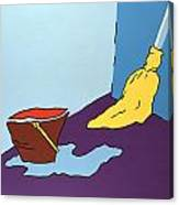 Mop And Bucket Canvas Print