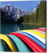 Moraine, Lake, Banff Nationalpark, Alberta Canvas Print