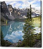 Moraine Lake In The Valley Of The Ten Canvas Print
