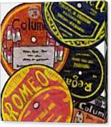 More Old Record Labels  Canvas Print