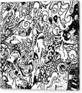 More Squabbles The Merrier Canvas Print