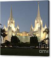 Mormon Cathederal San Diego 2 Canvas Print