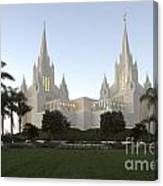 Mormon Cathederal San Diego Canvas Print