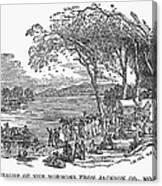 Mormon Flight, 1833 Canvas Print