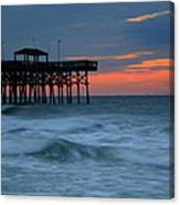 Morning At The Pier Canvas Print