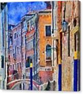 Morning Calm In Venice Canvas Print