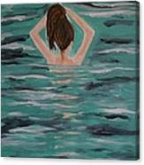 Morning Dip Canvas Print