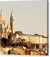 Sacre Coeur In A Summer Morning Canvas Print