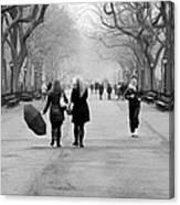 Morning In The Mall Canvas Print