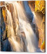 Morning Light On Lower Falls Canvas Print