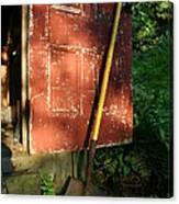 Morning Light On The Door Of An Old Canvas Print