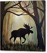 Morning Meandering Moose Canvas Print
