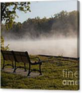 Morning Mist Over The Hudson River Canvas Print