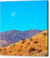 Morning Moon In Baja Canvas Print