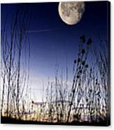 Morning Moonscape Canvas Print