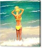 Morning On The Beach 2 Canvas Print