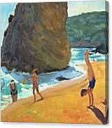 Morning Platja Dos Rosais Costa Brava Canvas Print