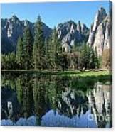 Morning Reflection At Yosemite Canvas Print