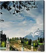 Morning View Of Salzburg From Kapuzinerberg Canvas Print