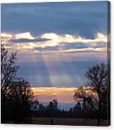 Mornings Heavenly Light Canvas Print
