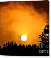 Morning's Mysterious Sunrise Canvas Print