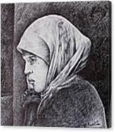 Morocan Girl Canvas Print