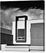 Morrison Window Bw Palm Springs Canvas Print