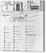 Morse Code Canvas Print