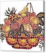 Mosaic Fruits Canvas Print