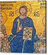 mosaic inside Hagia Sophia  Canvas Print