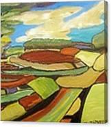 Mosaic Landscape Canvas Print