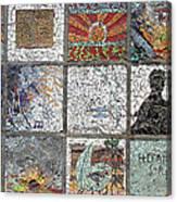Mosaics Street At Birzeit Canvas Print