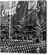 Moscow: Military Parade Canvas Print