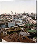 Moscow Russia On The Moskva River - Ca 1900 Canvas Print