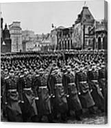 Moscow: Troop Review, 1957 Canvas Print