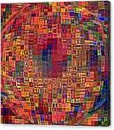 Mosiac Sphere Canvas Print