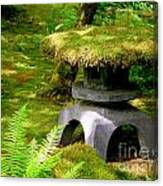 Mossy Japanese Garden Lantern Canvas Print