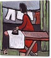 Mother  Ironing Canvas Print