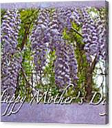 Mother's Day Card - Purple Wisteria Canvas Print