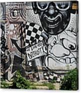 Motor City Graffiti Art Canvas Print