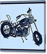 Motorbike 1a Canvas Print