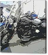 Motorcycle Ride - Three Canvas Print