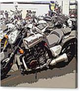 Motorcycle Rides - Five Canvas Print