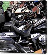 Motorcycles - Harleys And Hondas Canvas Print