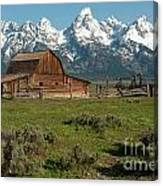 Moulton Barn - Grand Tetons Canvas Print
