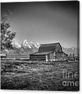 Moulton Barn Bw Canvas Print